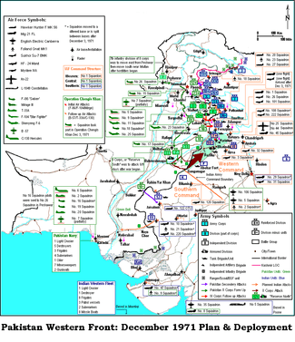 Military map of West Pakistan from December 1971